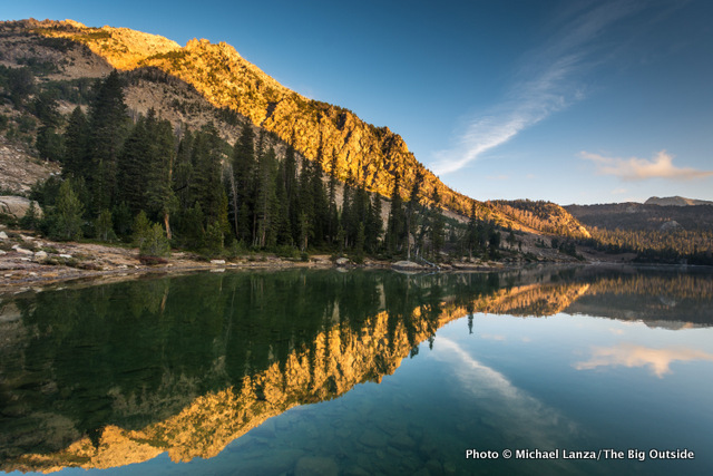 A still morning at Quiet Lake in Idaho's White Cloud Mountains.
