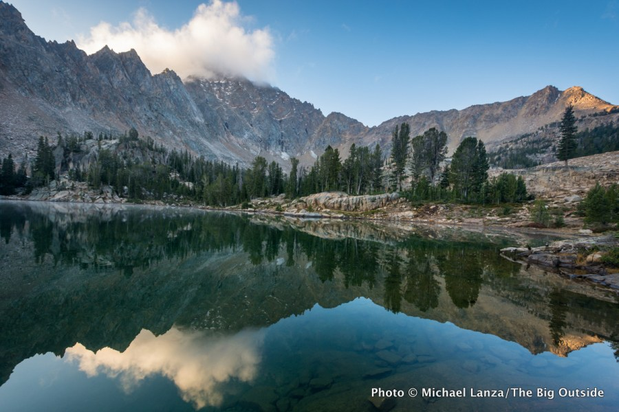 Quiet Lake in Idaho's White Cloud Mountains.