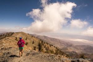 Hiking off summit of Telescope Peak.