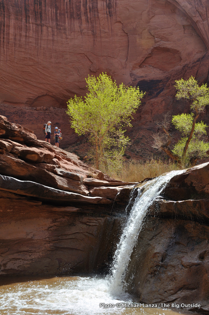 A waterfall in Coyote Gulch.