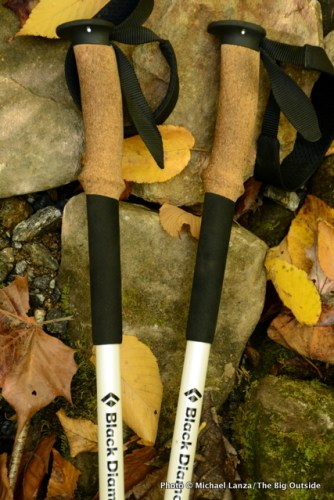 Black Diamond Alpine Carbon Cork Trekking Poles grips.