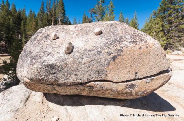 Rock art near Tuolumne Meadows.