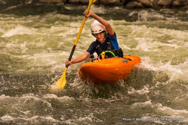 Nate kayaking Idaho's Payette River.