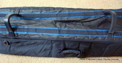 The Douchebags Ski Bag handles.