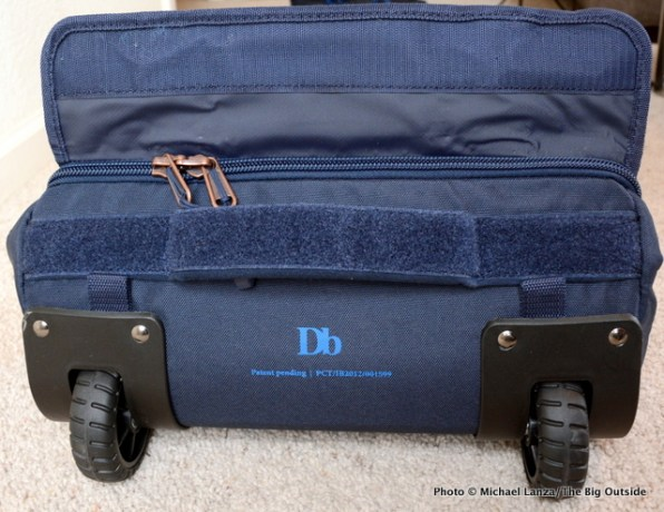 The Douchebag Ski Bag wheels.