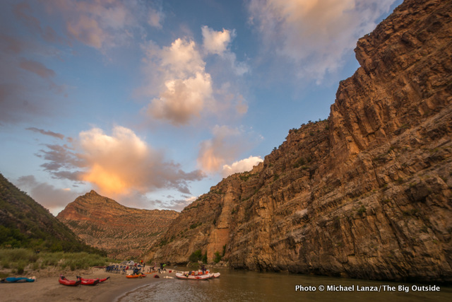 Compromise Camp, on a float trip through the Gates of Lodore in Dinosaur National Monument.