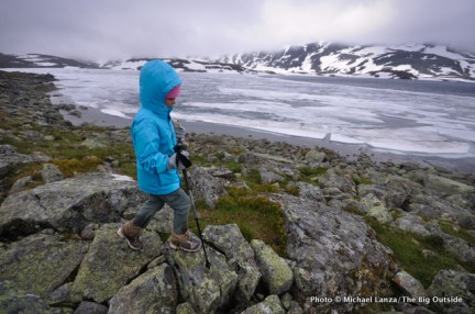 Alex trekking in Jotunheimen National Park.