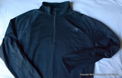 The North Face Men's Warm Long-Sleeve Zip Neck.