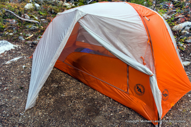 The Big Agnes Copper Spur HV UL2 ultralight backpacking tent.