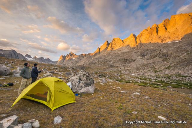 A campsite in Titcomb Basin, in Wyoming's Wind River Range.