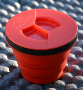 Sea to Summit X-Seal & Go Cup capped.