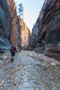 Day one backpacking Zion's Narrows.