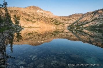 Dawn at Twin Lakes, Sawtooth Mountains, Idaho.