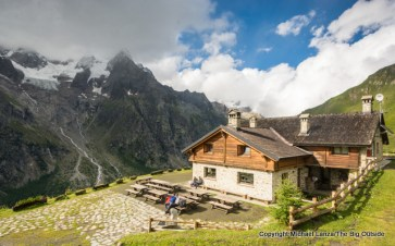 The Refuge Walter Bonatti on the Tour du Mont Blanc.