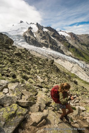 On the Tour du Mont Blanc in Switzerland.