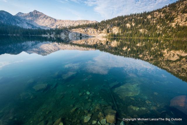 Edna Lake in Idaho's Sawtooth Mountains.