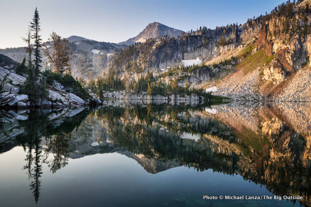 Mirror Lake, in the Lakes Basin of Oregon's Eagle Cap Wilderness.