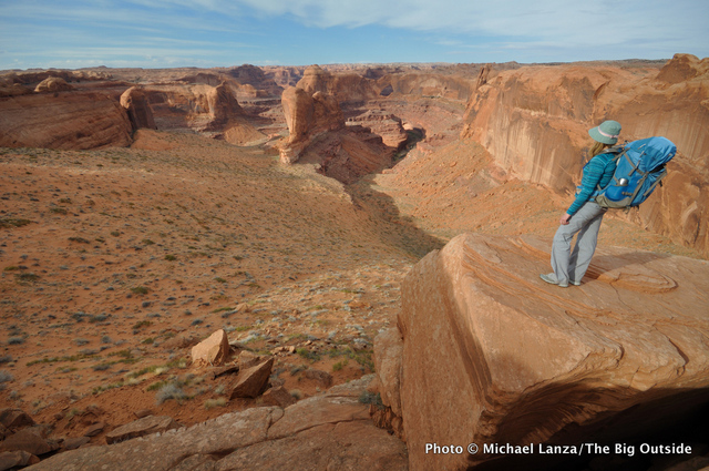 Above Crack-in-the-Wall, Coyote Gulch, Grand Staircase-Escalante National Monument.