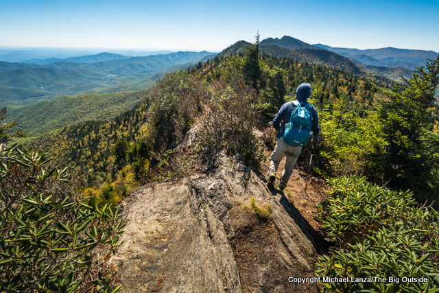 Hiking the Black Mountain Crest Trail up North Carolina's Mount Mitchell.