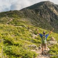 Mark Fenton hiking Bondcliff, White Mountains, N.H.