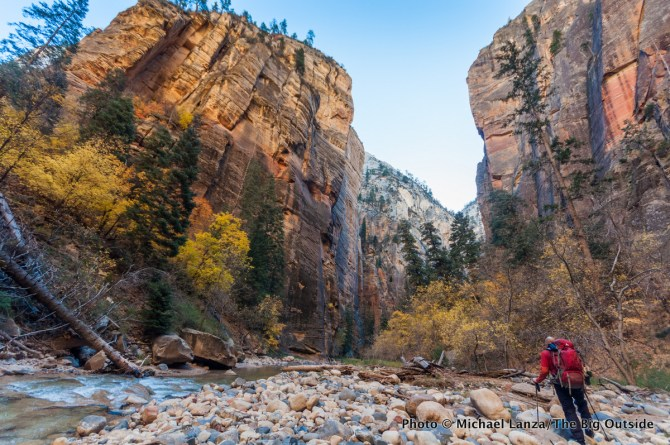 Day two backpacking The Narrows in Zion National Park.