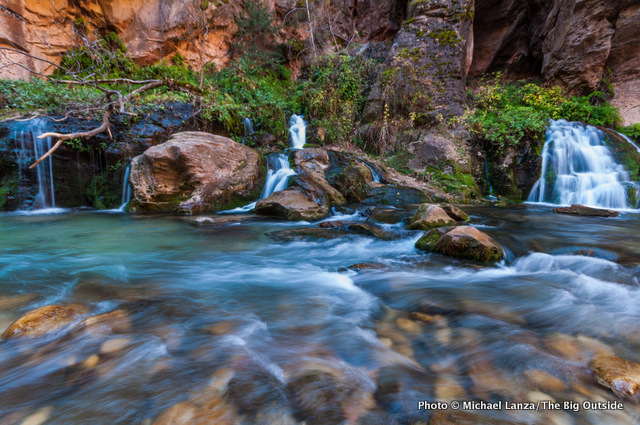 Big Spring, on day two backpacking The Narrows, Zion National Park.