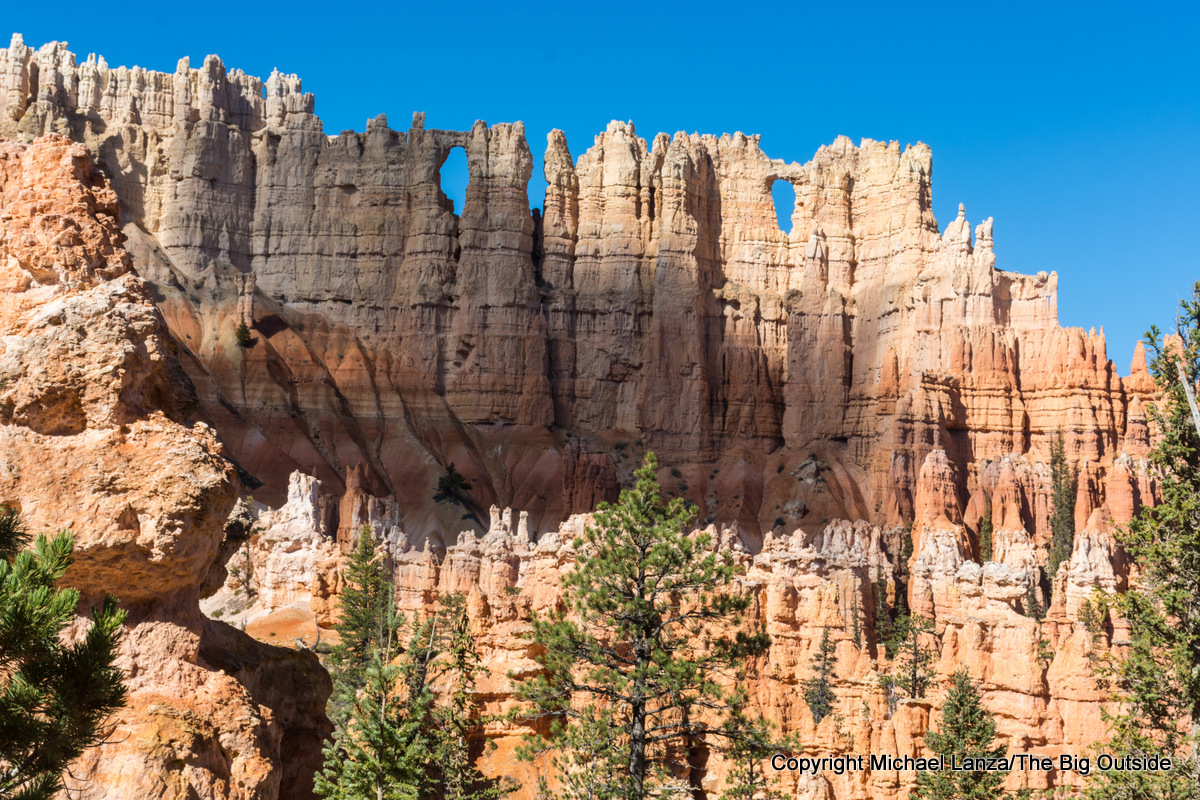The Wall of Windows along the Peekaboo Loop in Bryce Canyon National Park.