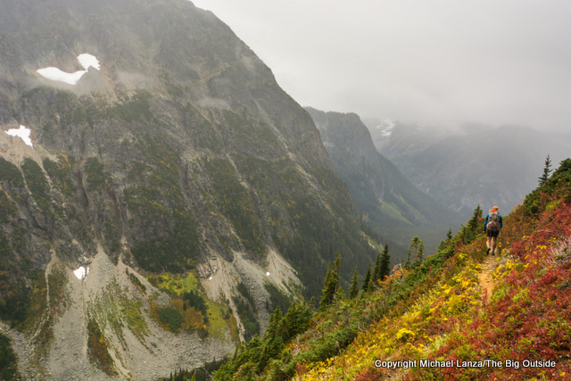 Todd Arndt backpacking the Fisher Creek Trail, North Cascades National Park.