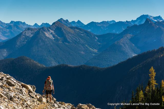 Todd Arndt in Park Creek Pass, North Cascades National Park.