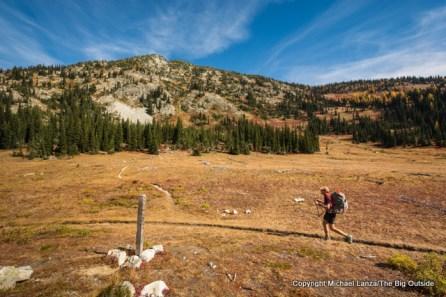 Todd Arndt at McAlester Pass, Lake Chelan NRA.