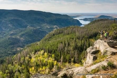 High above Pine Creek Canyon, Wind River Range.