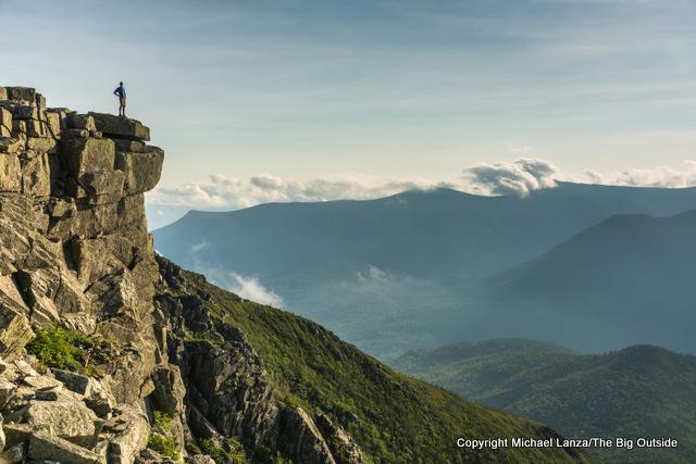 Mark Fenton enjoying the view from Bondcliff in the White Mountains, N.H.