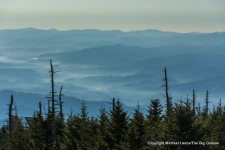 View from Clingmans Dome, Great Smoky Mountains National Park, N.C.