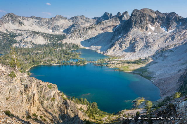 Twin Lakes in Idaho's Sawtooth Mountains.