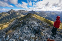 Summit of Mount Luxmore, Kepler Track, Fiordland National Park.
