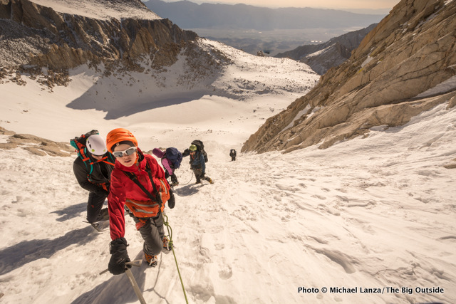 Climbers on the Mountaineers Route, Mount Whitney, California.