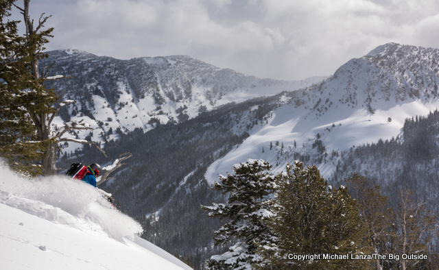 Backcountry skiing high in Idaho's Sawtooth Mountains.