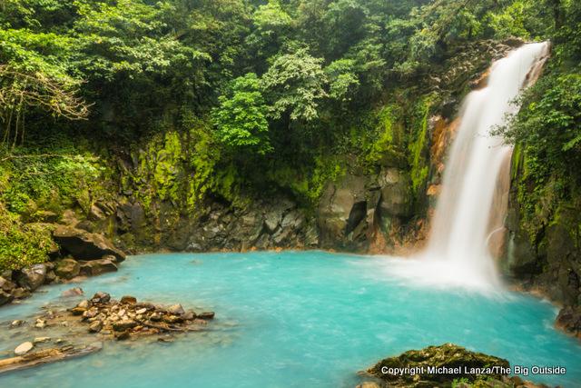 The Rio Celeste in Costa Rica's Volcan Tenorio National Park.