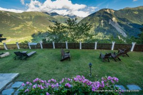 Back yard of the Hotel Alpina, Tour du Mont Blanc, Champex-Lac, Switzerland.