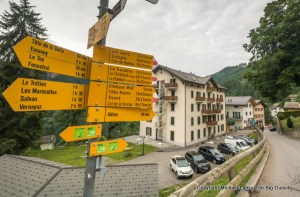 Near Finhaut, Switzerland, on the Tour du Mont Blanc.