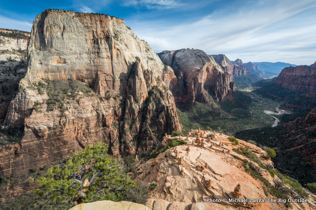 The view from Angels Landing summit, Zion National Park.
