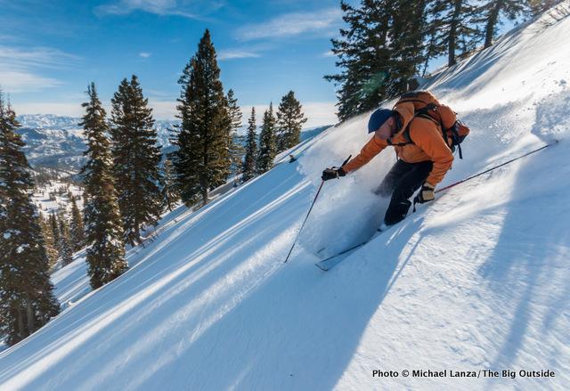 David Gordon finding powder in Idaho's Boise Mountains.