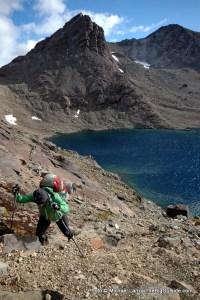 Climbing to Paso de los Dientes on the Dientes Circuit.