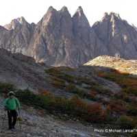 Trekking the Dientes Circuit on remote Navarino Island in Chilean Patagonia.