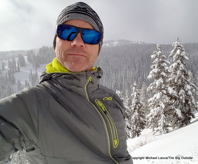 94681ec8dcb Wearing the Outdoor Research Ascendant Hoody while backcountry skiing.