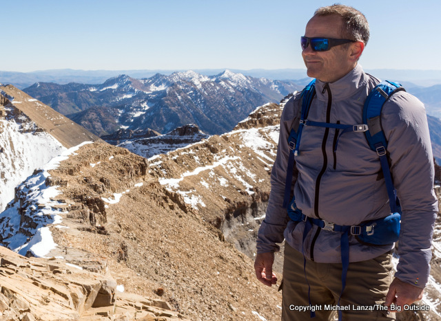 The Smartwool Men's PhD Ultra Light Sport Jacket on Utah's Mount Timpanogos.