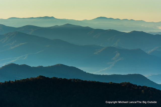 The view from the Appalachian Trail in Great Smoky Mountains National Park.