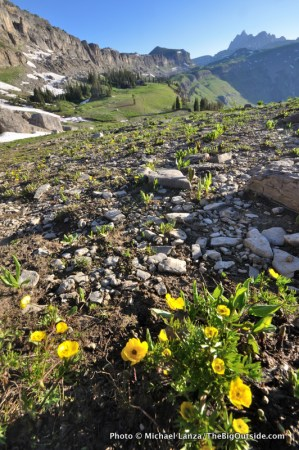 Death Canyon Shelf on the Teton Crest Trail.