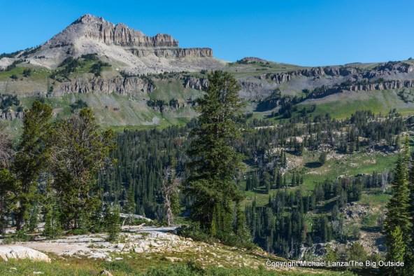 A campsite in Alaska Basin on the Teton Crest Trail, Grand Teton National Park.