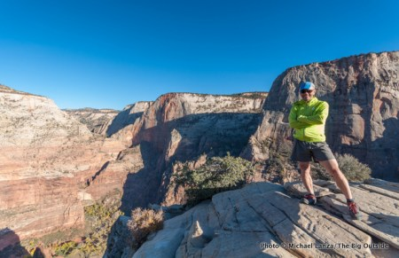 Michael Lanza on Angels Landing in Zion National Park.